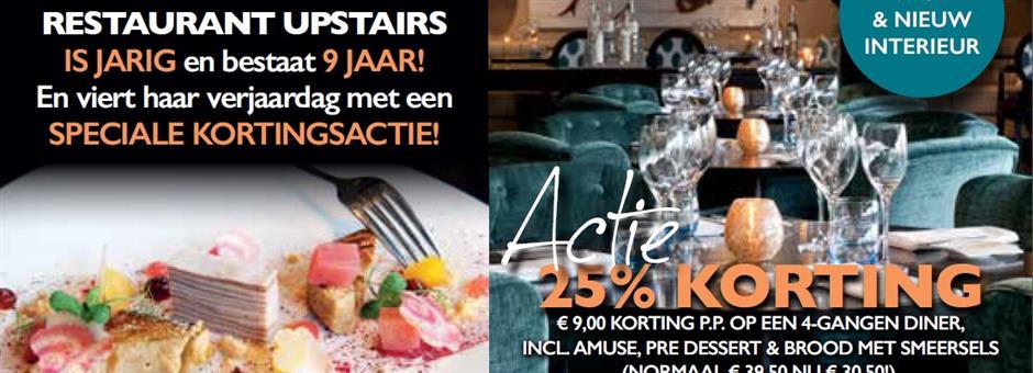 Actie tot en met 15 december! - Restaurant Upstairs
